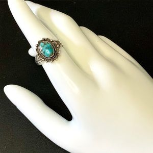 Navajo JP Jane Popovitch Sterling Turquoise Ring